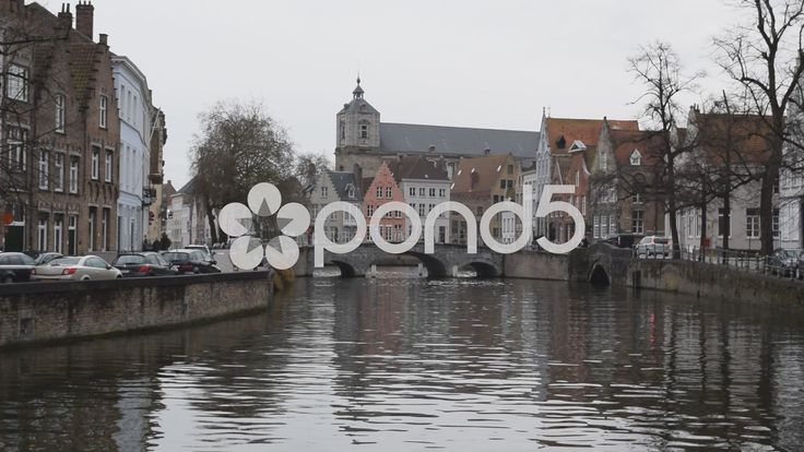 Bruges, Belgium. Bridge over canal 1 of 2 - Stock Footage | by glenman77