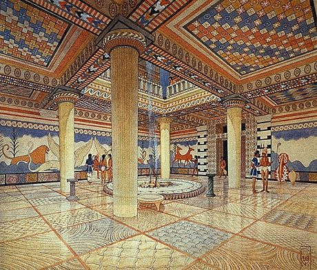 Reconstruction of Mycenae Palace.