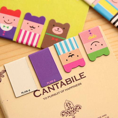 4 Pcs/lot Cartoon Kawaii Stationery Bronze Magnetic Bookmark For Books Mark Clips Office Teacher Gift Kids School Supplies