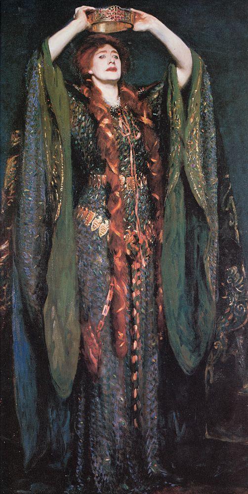 John Singer Sargent (1856-1925) //  Miss Ellen Terry as Lady Macbeth Oil on canvas 1889