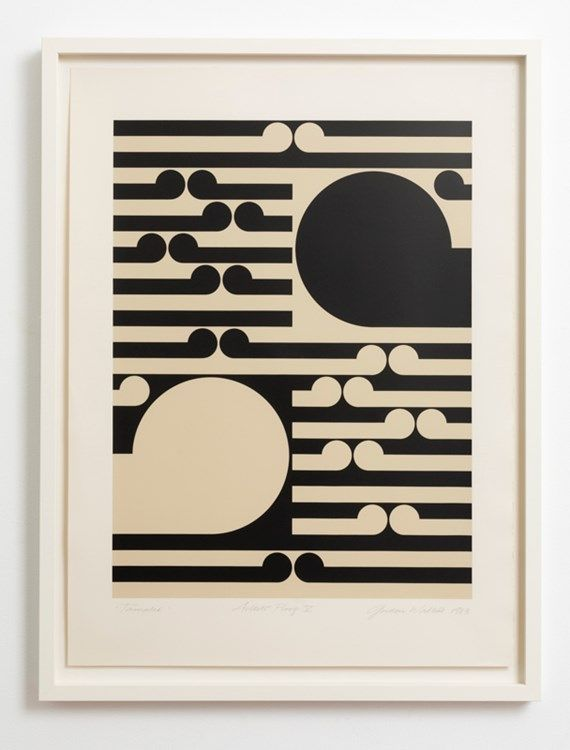 Gordon Walters, Tamaki, 1983.  Silkscreen print.