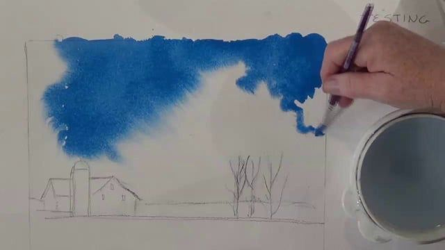 Award winning artist Deb Watson demonstrates how easy it is to create professional looking soft clouds with watercolor paint. This effect can be used for fog, smoke or even blowing snow! A watercolor painting lesson so simple, even a beginner can do it.