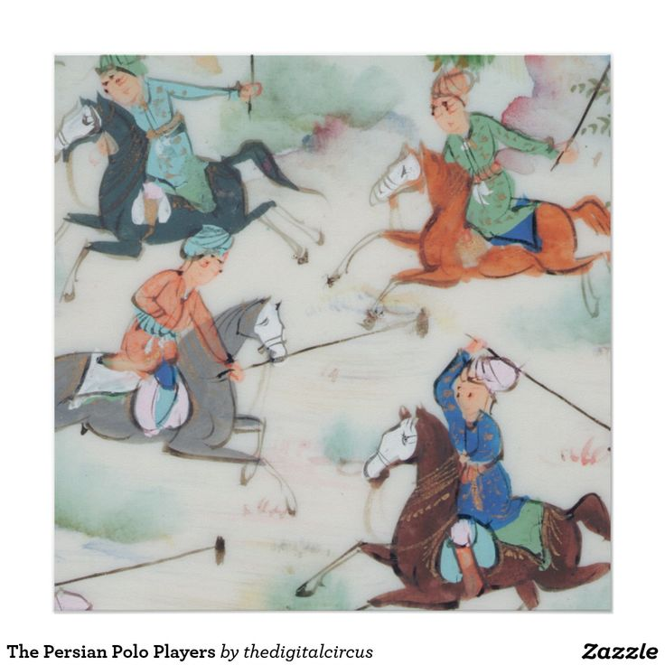 The Persian Polo Players Poster