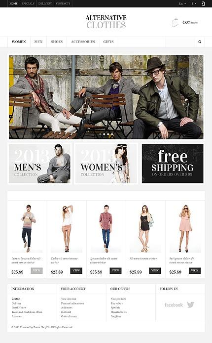 #Fashion focused/#Ecommerce theme #web #design