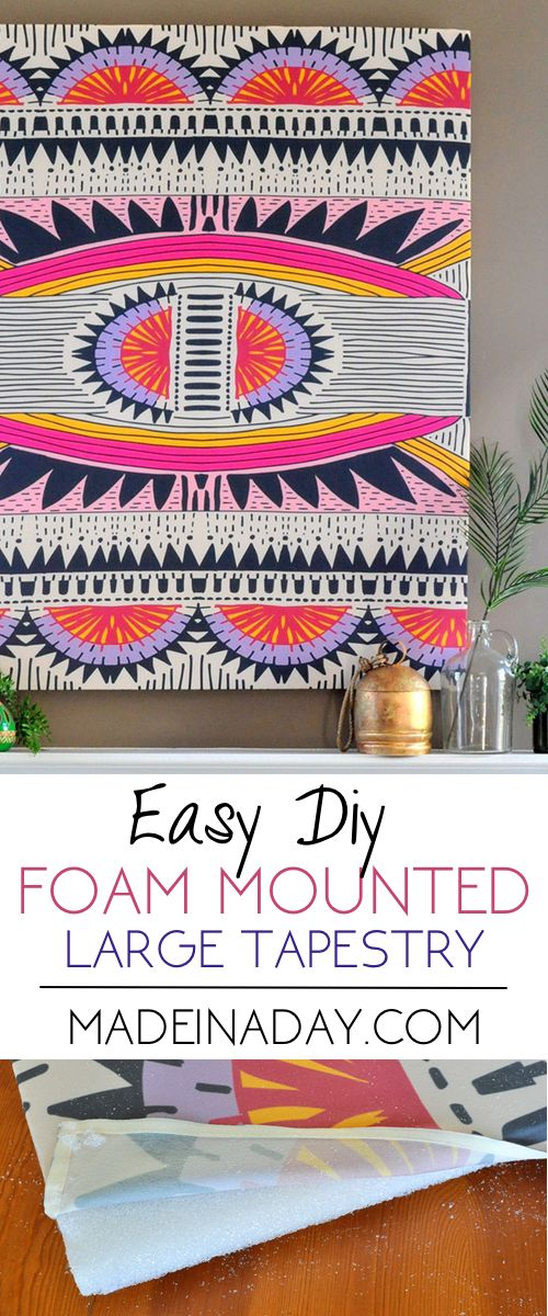 How to Mount a Tapestry for Wall Art | Made in a Day