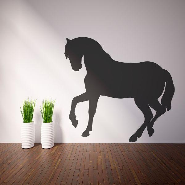 Vinilo decorativo de la silueta de un caballo. Masquevinilo.com