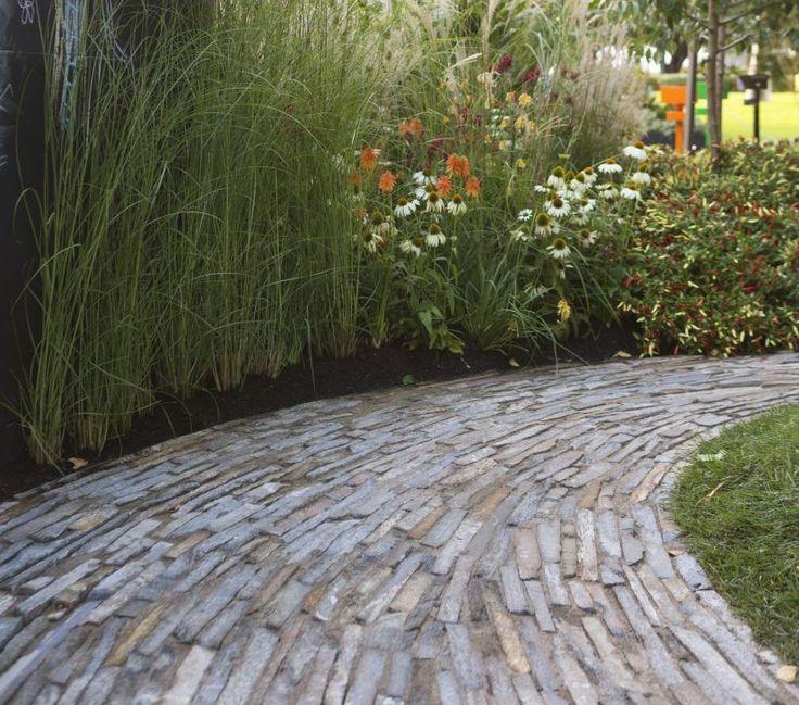 Eco Outdoor Endicott Filetti split stone pathway. Eco Outdoor