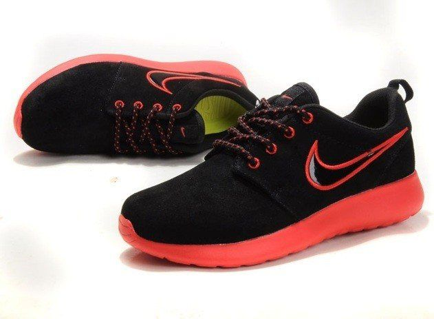 separation shoes 732c1 a4472 ... buy 2014 new arrival mens nike roshe running shoes wool skin comfort  casual back red 83eed