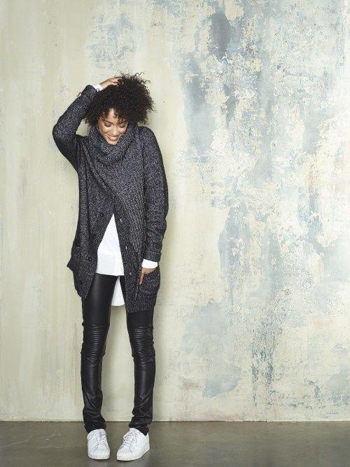 10Days - Leatherlook biker legging- black | Pants | Loft
