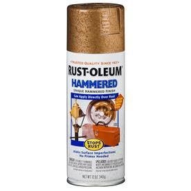 Shop Rust-Oleum Stops Rust Copper Hammered Enamel Spray Paint (Actual Net Contents: 12-oz) at Lowes.com