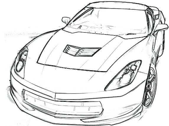 corvette stingray coloring page