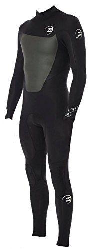 5/4/3mm Men's Billabong FOIL Steamer Full Wetsuit - Black, MS