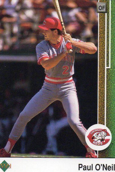 1989 Upper Deck Baseball Card Reds Paul O'Neill