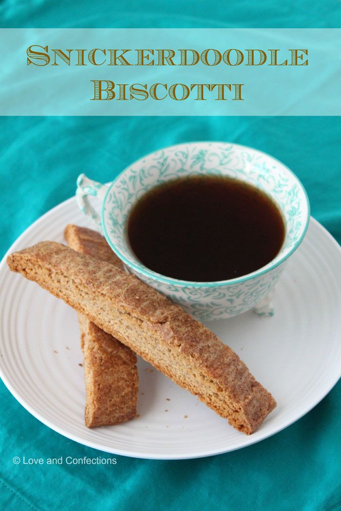 Snickerdoodle Biscotti, a twist on the classic Snickerdoodles cookies, are the perfect treat with a cup of coffee or tea - crunchy, spicy & sweet! | loveandconfections.blogspot.com for cupcakesandkalechips.com