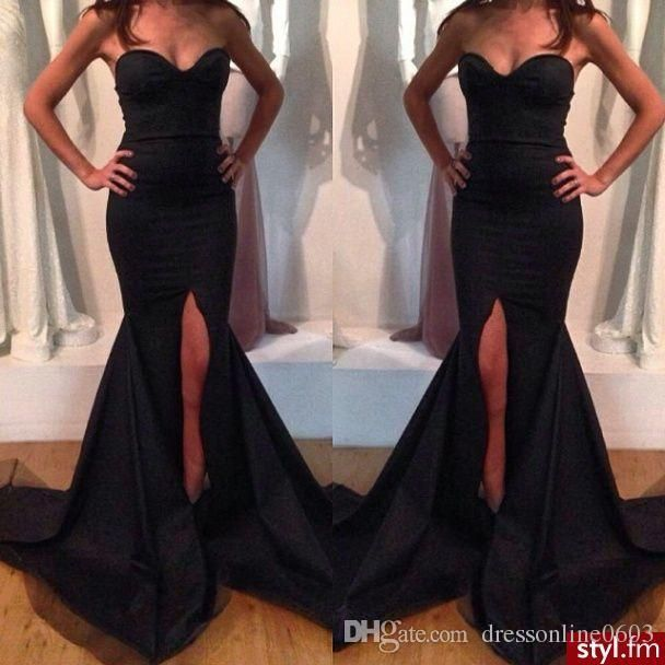 Evening dress long strapless maxi