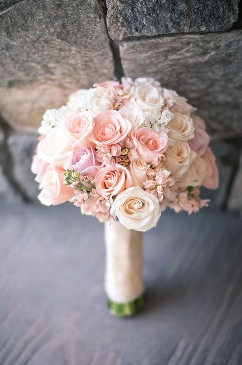 Bridal bouquets come in different shapes, colors, sizes and styles: nosegays, cascading bouquets, pomanders, free-form, wired and hand-tied varities.