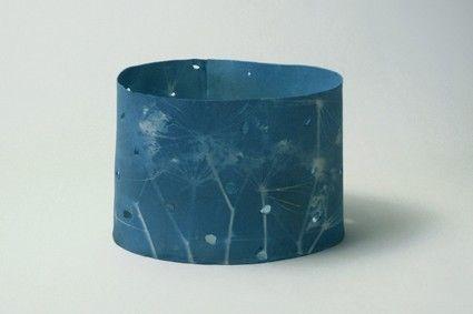 sunprint on porcelain