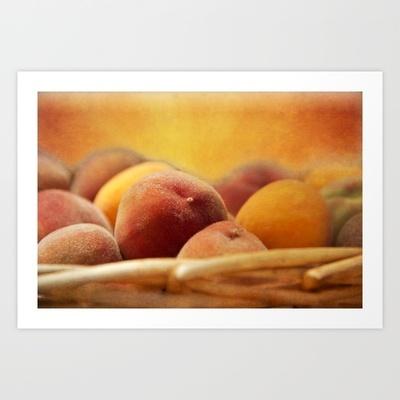 Fuzzy Peach Art Print by Shawn Terry King