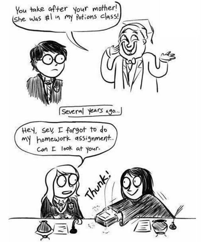 Of course!! #potionsmaster #slughorn #harrypotter #lilyevans