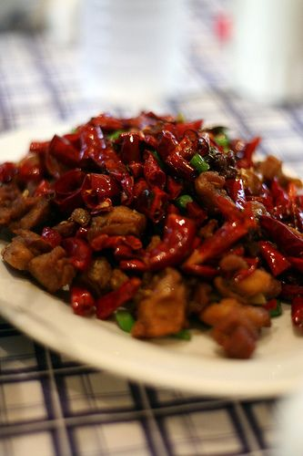Chinese Hot and Spicy Chicken (Ma La Tze Gee) - Hunan