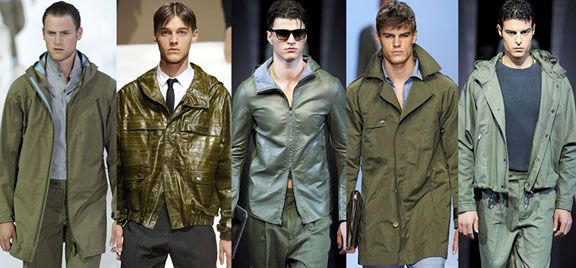 Mens Spring Color 2014 | the MAGIC Marketplace | Olive - The key green expression for rugged menswear classics, with both blue and yellow casts of importance.