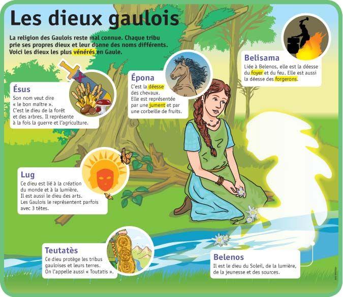 Fiche exposés : Les dieux gaulois