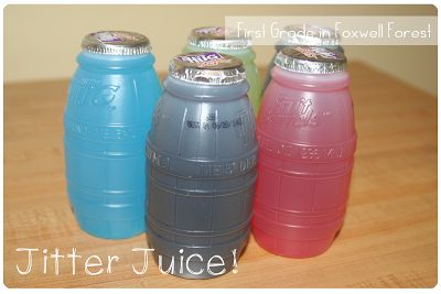 Jitter Juice for the First day of School to go with the book First day Jitters! The kids LOVED this!!