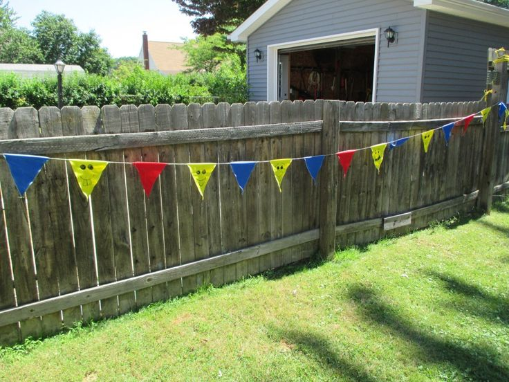 Lego Party Flag Decorations