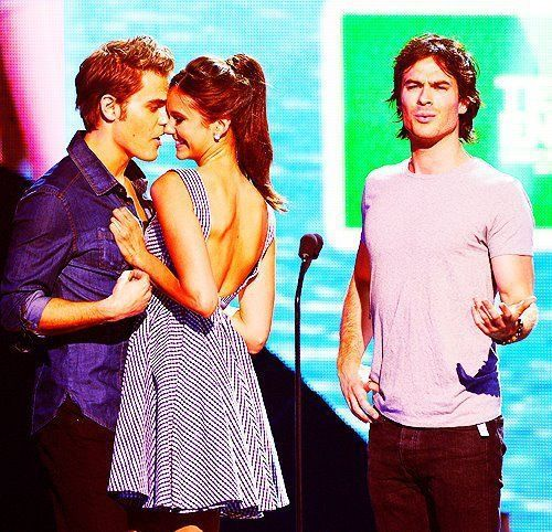 haha award show. Paul Wesley, Nina Dobrev and Ian Somerhalder