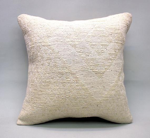 Ecru Hemp Pillow 16 Quot X16 Quot Hemp Decorative Pillow Handmade Pillow Vintage Pillow Turkish Pillow Throw Pillow Accent Pillow By Turqarts 2020