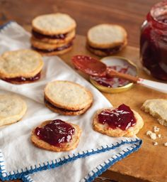 Blue Cheese Coins with Raspberry Filling