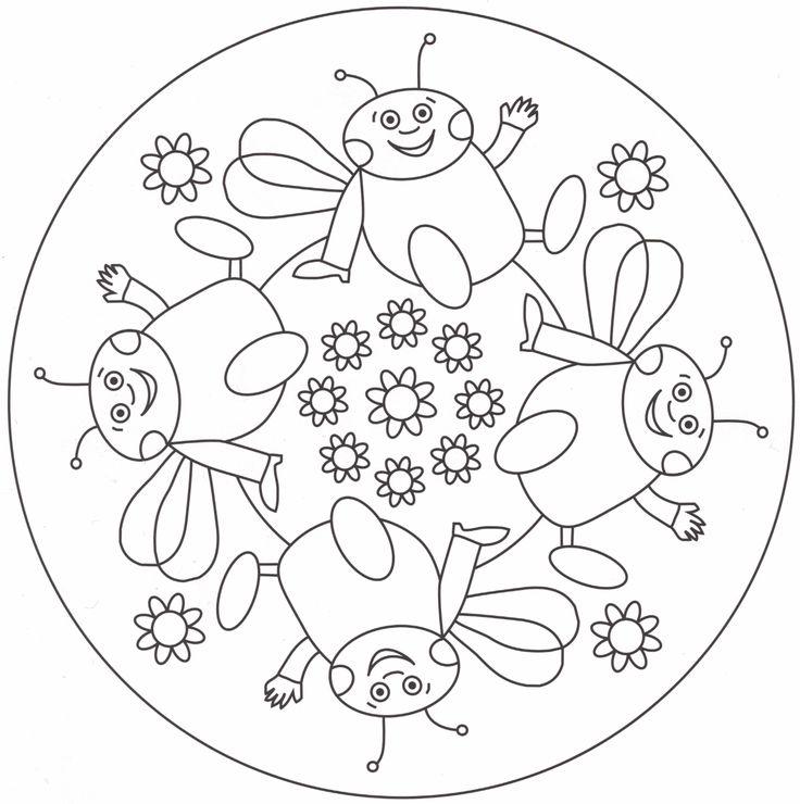 Mandalas para colorear: Permiten a los niños disfrutar coloreando, captar la atención e imaginación de los niños al mismo tiempo que permiten la relajación y el entretenimiento.