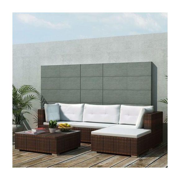 Salon De Jardin En Resine Tressee Marron Modulo 3770007027818