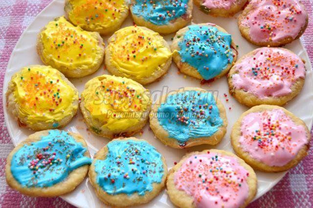 пасхальное печенье. Радуга