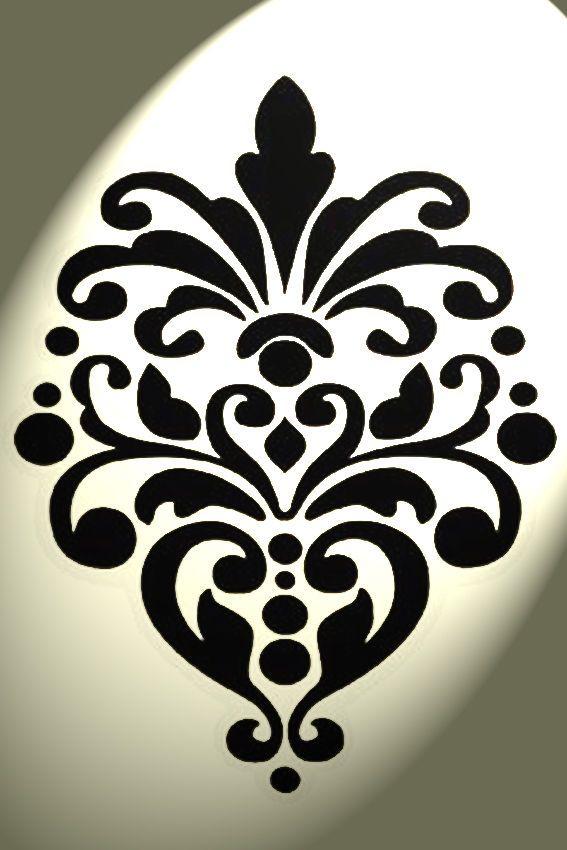 Vintage damask stencil Shabby Chic Rustic Mylar style A4 297x210mm