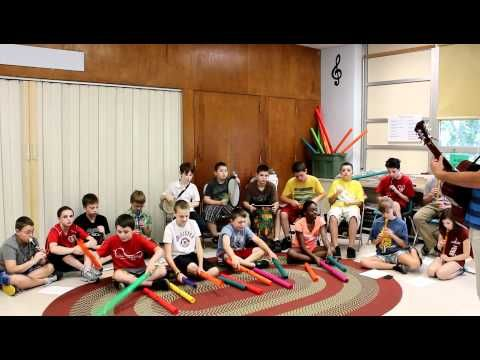 """Lion Sleeps Tonight"" - boomwhackers/recorders/drums if i ever go  back to teaching the big kids, gotta do this!"