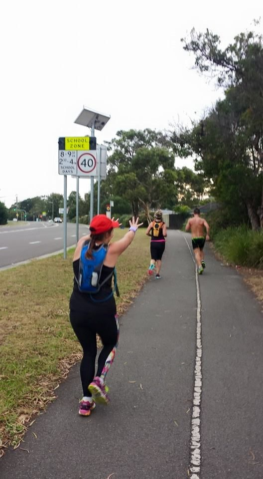 Me chasing a P.B. Well that's my excuse anyway LOL! Group run with friends :-) Week 2 of training for SMH half as SKINS recruit