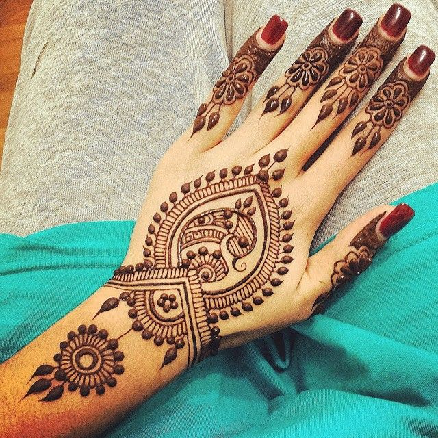 Henna on back of the hand