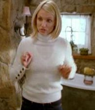 I Want This Wardrobe: Cameron Diaz in The Holiday! | POPSUGAR FashionWhite Turtleneck Sweater with Buttons, Ralph Lauren