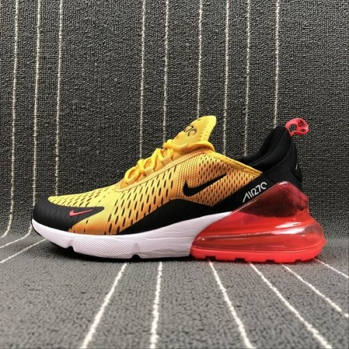 Nike Air Max 270 Latest Styles Running Shoes 2018 Flyknit White Black  Yellow AH8050-706 11e0559707