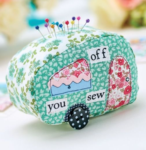 Love Retro? Stitch Carolyn Letten's function caravan pincushion. One of our most popular free projects.