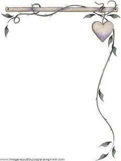 Resultado de imagen para hojas decoradas para escribir en ellas cartas de amor