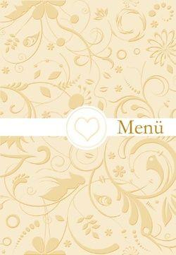 Auch der Gaumenschmaus soll anständig angekündigt werden! Darum gibt es passend zu allen Entwürfen auf unserer Seite auch eine entsprechende Menükarte! http://www.traupost.de/hochzeitskarten/menuekarten/