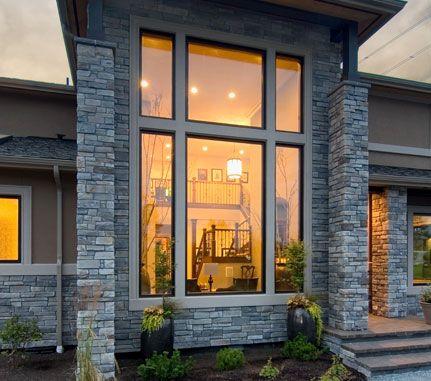 Residential Exterior Echo Ridge Country Ledgestone Cultured Stone Brand Manufactured Stone