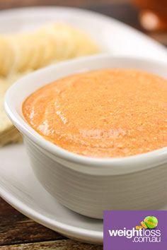 Roasted Capsicum & Cashew Dip. #HealthyRecipes #DietRecipes #WeightLossRecipes weightloss.com.au