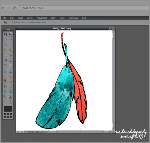 How to make watercolor art digitally, on Pixlr (a free photoshop alternative!)