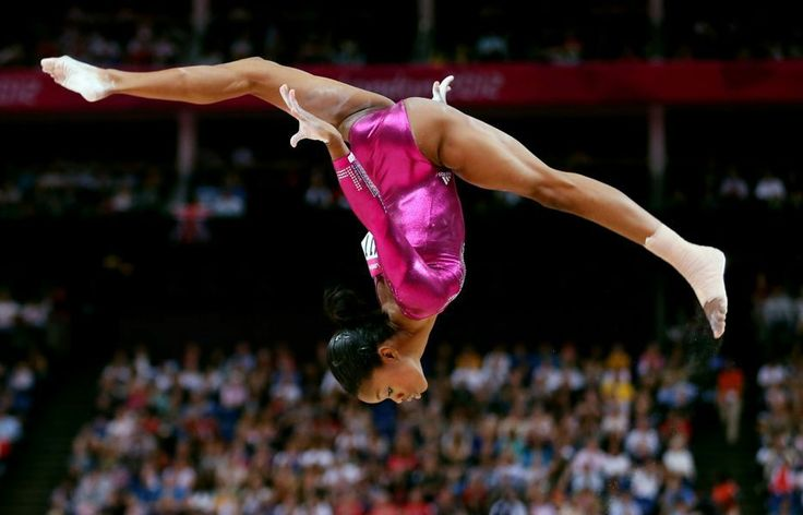 in the Artistic Gymnastics Women's Individual All-Around final on Day 6 of the London 2012 Olympic Games at North Greenwich Arena on August 2, 2012 in London, England.