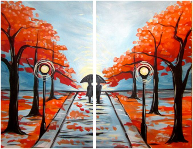 Lovers Lane Couples Painting Ive Done This One
