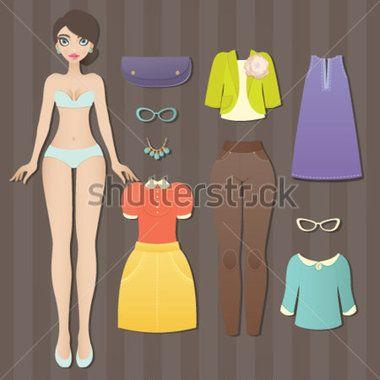 klippdockor mallar - Sök på Google | Pappersdockor 1/Paper doll 1 ...