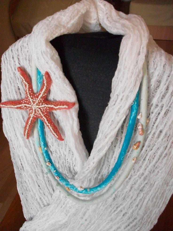 Wolle, Perlen, Muscheln, Seide und Leinen thread